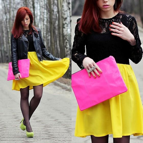 "Stylowebutki.Pl Shoes, Http://Shopmarkethq.Com/ Dress, Bershka Clutch //""SPRING ! I'm a redhead girl !"" by Wioletta Mary Kate // LOOKBOOK.nu"