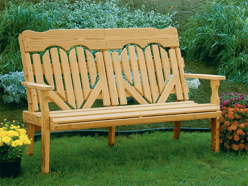 amish wood patio bench ideas #90 - WellBX
