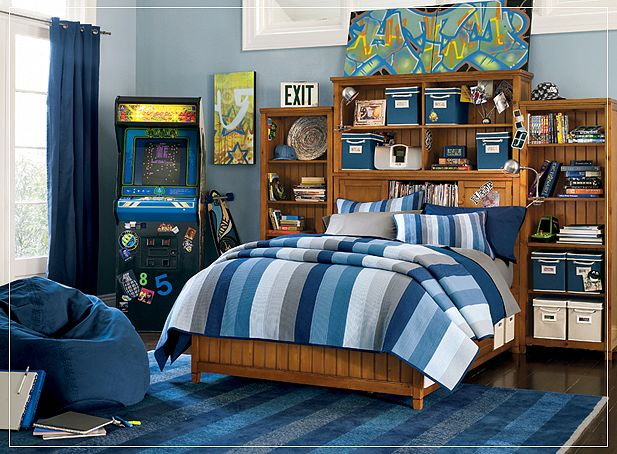 best blue bedroom ideas for teen boys #39 - WellBX