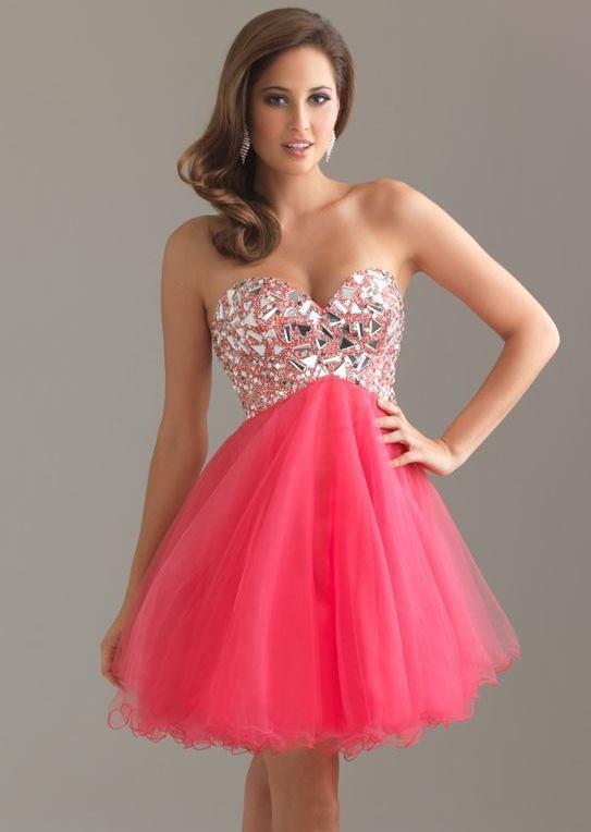 pink short prom dresses 2016 | Safiaa