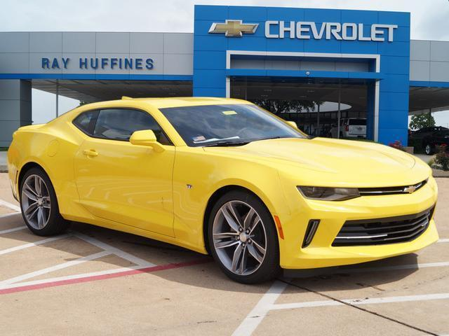 New 2016 Bright Yellow Chevrolet Camaro 2dr Cpe LT w/1LT For Sale in Plano, TX | 1G1FB1RS6G0165598