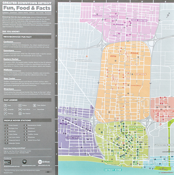 Fun, Food & Facts / Detroit Map on