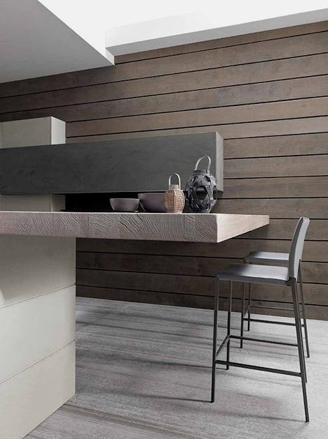 Wood & concrete kitchen | iainclaridge.net