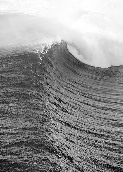 Black and white hollow wave | Murray Mitchell