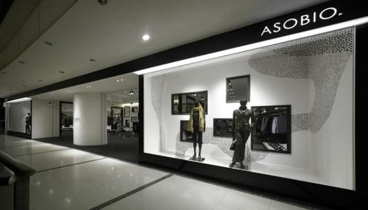 Asobio cloud nine fashion shop interior design by nendo for Interior designs of boutique shops
