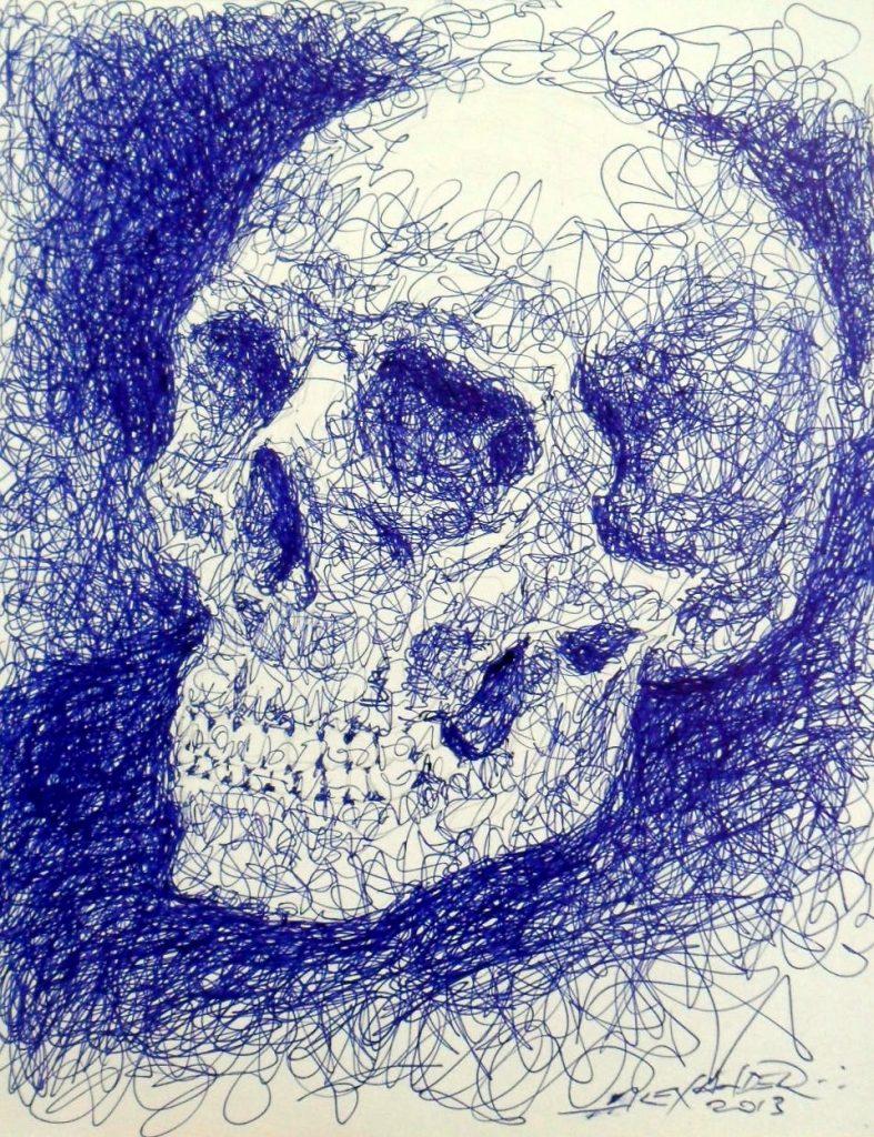 Artflaunt | Blue Skull Study