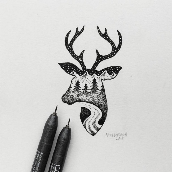 Little Hybrid Illustrations by Sam Larson in Illustration