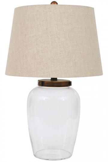 Crestmont Fillable Table Lamp - Table Lamps - Fillable Table Lamps - Decorative Lamps - Customizable Lamps - Vase Lamps - Accent Lamps - Transparent Glass Lamps | HomeDecorators.com