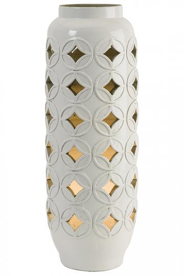 Calvinia Cutwork Ceramic Lamp - Accent Lamp | HomeDecorators.com