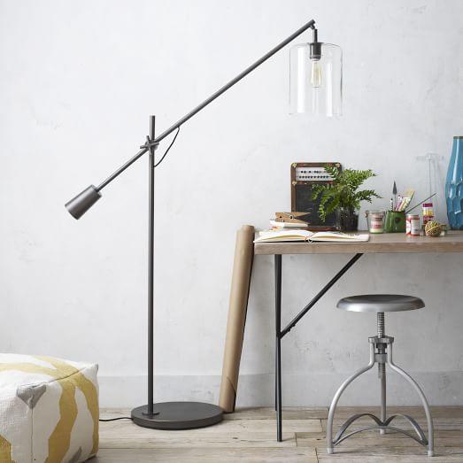 Adjustable glass floor lamp west elm 588202 on wookmark adjustable glass floor lamp west elm aloadofball Gallery