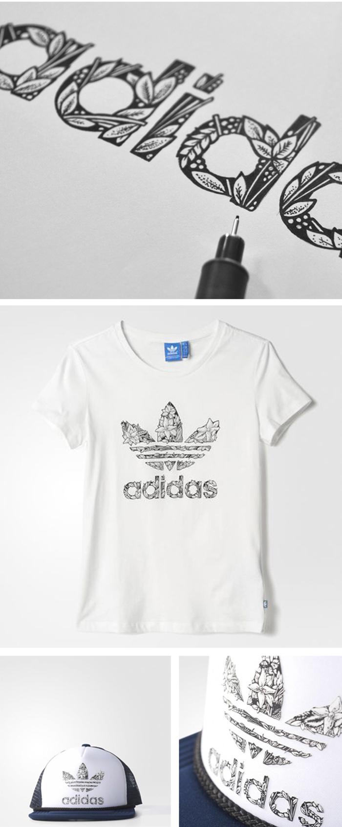 Adidas Trefoil flowers - Design Milk