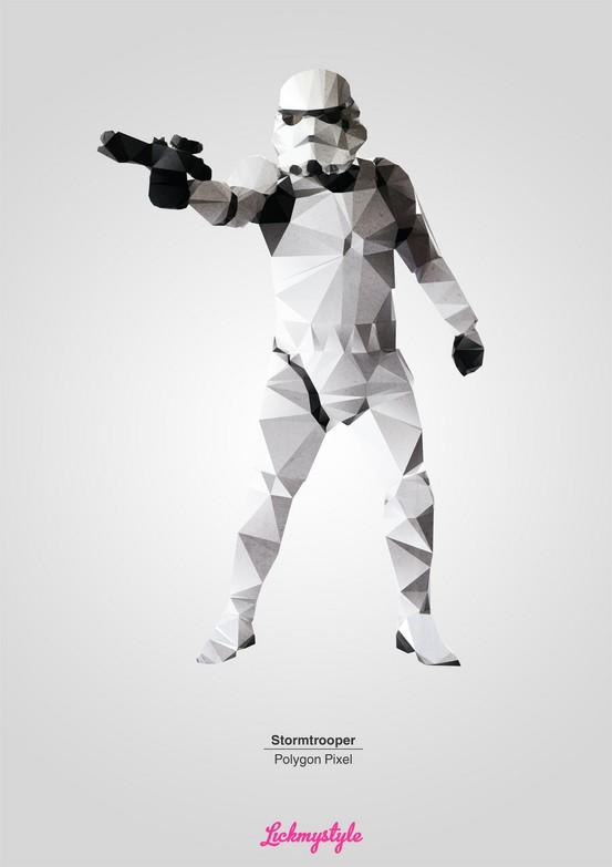 Inspiration / free Stormtrooper A3 poster download here http://www.lickmystyle.com/free/