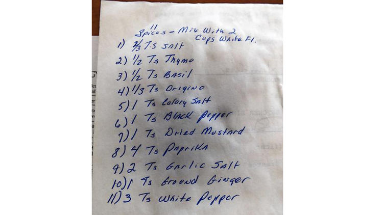 KFC recipe revealed? Tribune shown family scrapbook with 11 herbs and spices - Chicago Tribune
