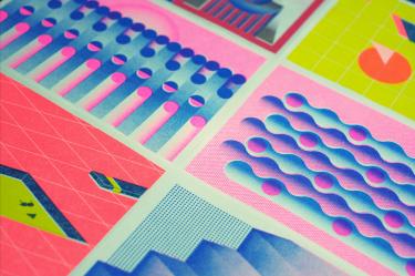 Limited Edition Risograph Printing Calendar — Creativitea
