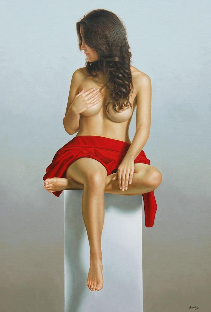 Gorgeous Hyper-Realistic Nude Paintings