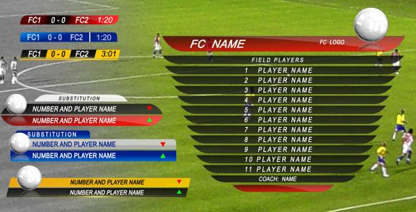 After Effects Project Files - Soccer Graphic Package   VideoHive