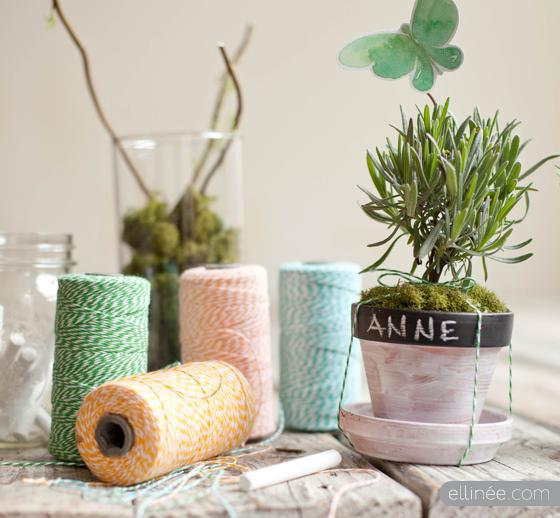 Chalkboard Herb Pot Tutorial | Ellinée