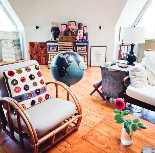 Keith & Fran's Arty Geodesic Dome Home House Tour | Apartment Therapy