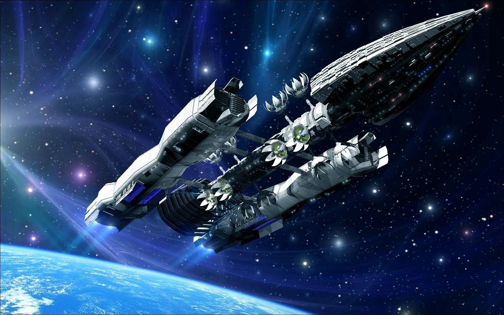 outer space stars spaceships rendering - Wallpaper (#1814812) / Wallbase.cc