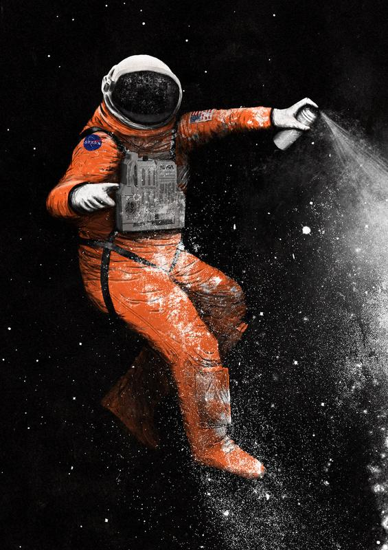 Astronaut Art Print by Speakerine | Society6