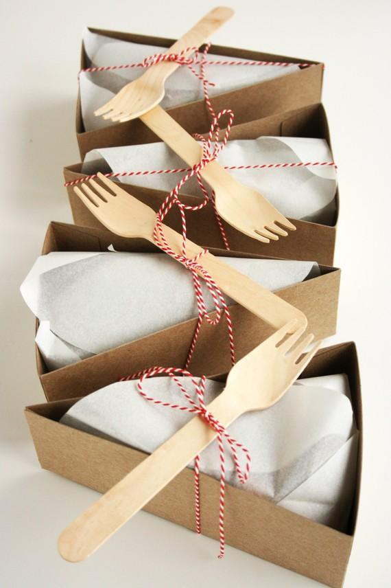 DELUXE WedgeShaped Pie Box Kits Forks and other by petitmoulin