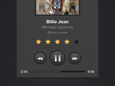 Music Player UI by Niklas Mathiesen