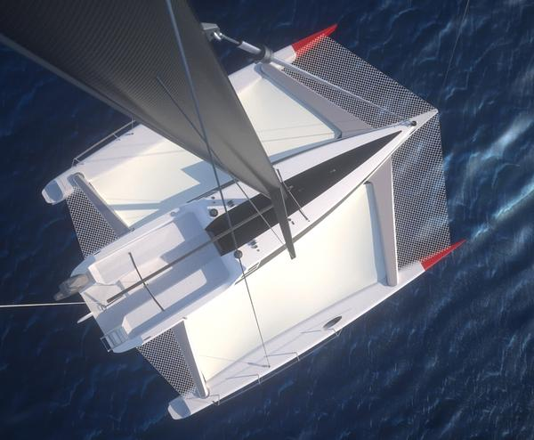 Omega 880 foldable trimaran on Industrial Design Served