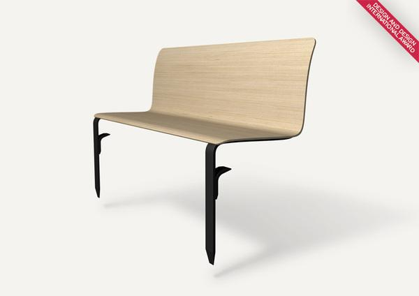 Atis bench design on Industrial Design Served