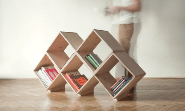 Bookcase on Industrial Design Served