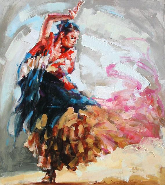 FLAMENCO in the painting | Flickr - Photo Sharing!