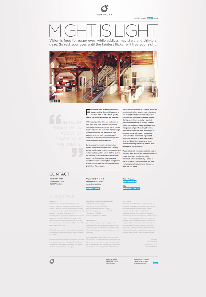 Web design inspiration | #288 « From up North | Design inspiration & news