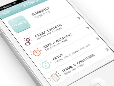 Flowerly for iPhone by Julien Renvoye... - UltraUI | UI Design & Inspiration