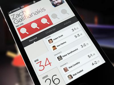 Social Ping Pong by Brian Waddington - UltraUI | UI Design & Inspiration
