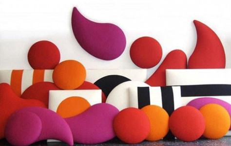 Stylish Sound Absorbing Panels by Wobedo - 3rings