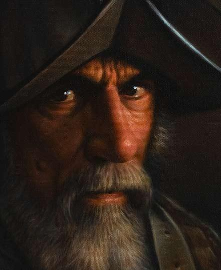 The Old Conquistador, Old Master Oil Painting Demonstration