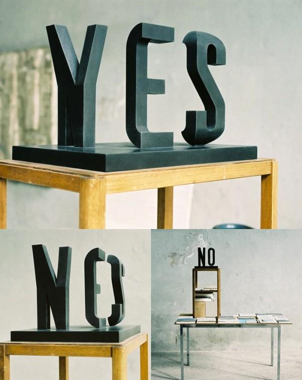 Yes/No by Markus Raetz | Colossal