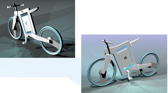 Apple Bicycle for a green ride with all Apple gadgetry