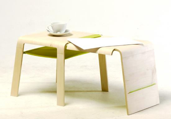 Changeable modular furniture is a chair, coffee table and more