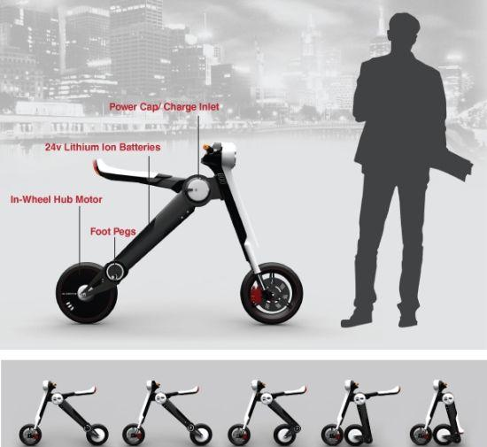 Skoota: Portable electric scooter allows zero emission ride