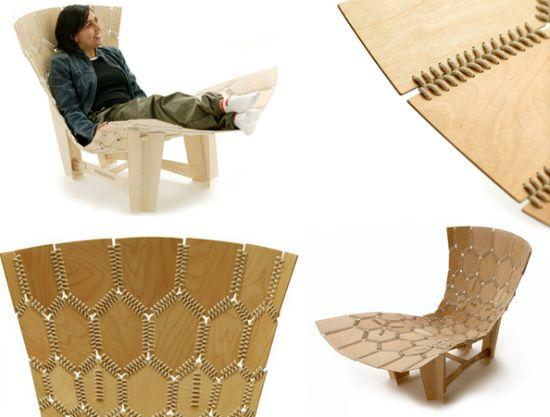 Knit Chair combines recycling with comfort of a lounge chair