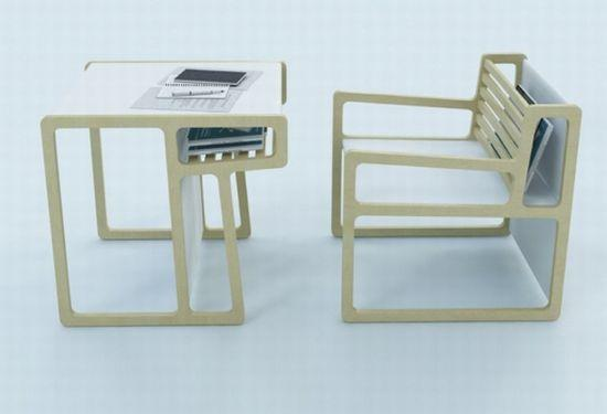 Multifunctional furniture: Also Chair transforms into a table
