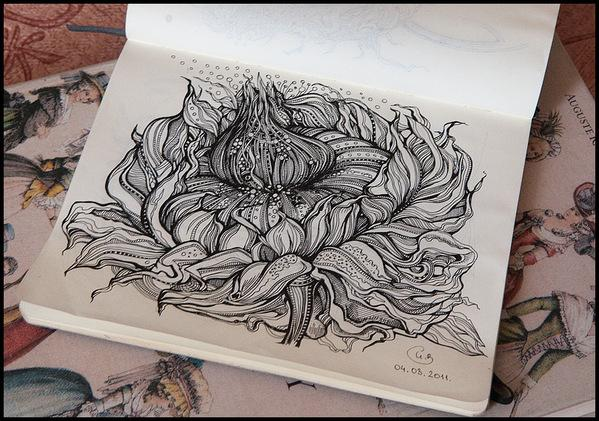 Sketchbook Illustration Drawings by Irina Vinnik | inspirationfeed.com