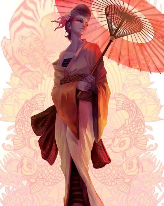 Piccsy :: Seductive Geisha Digital Art Inspiration