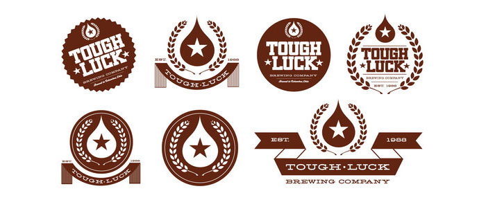Tough Luck Beer Labels - TheDieline.com - Package Design Blog