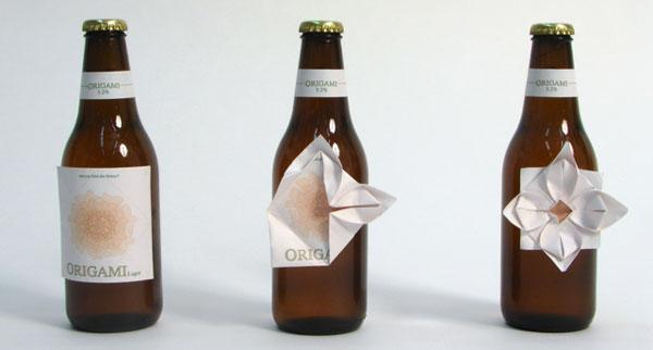 NOTCOT: Origami Beer Labels
