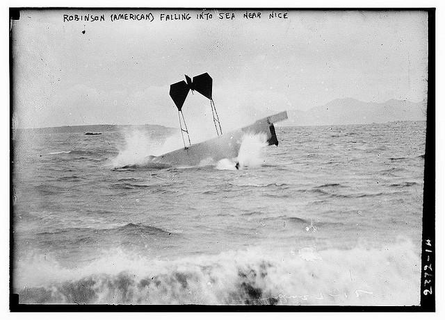 Robinson (American) falling into sea near Nice (LOC) | Flickr - Photo Sharing!