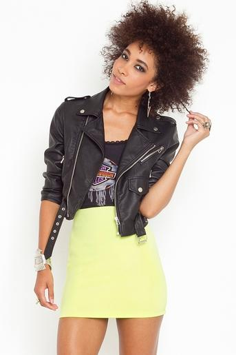 Scuba Skirt - Lime in Clothes Bottoms Skirts at Nasty Gal