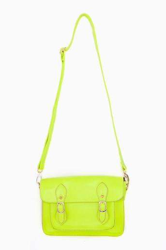 Neon Satchel - Yellow in Accessories at Nasty Gal
