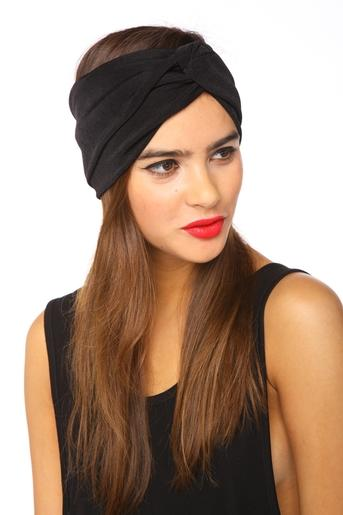 Pitch Black Turband in Accessories Hair + Hats at Nasty Gal