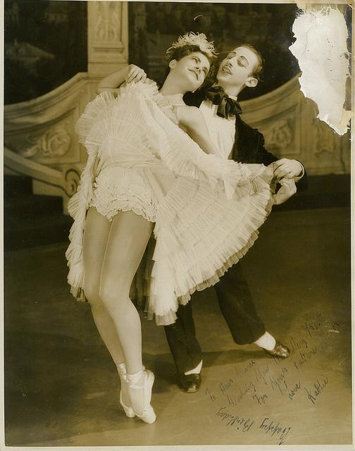 Martin Rubenstein and Kathleen Gorham, dancers in the J.C. Williamson / Borovansky Ballet production of Gay Rosalinda, 1946 / photographer Hal Williams | Flickr - Photo Sharing!